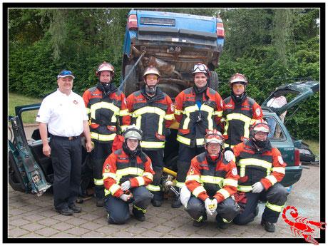 Teammitglieder von 2012 - von links oben - Thomas Beier, Thomas Böhm, Dirk Schiefer,Marcel Jordan , Sebastian Krack - links unten Rebekka Lotz, Michael Schüßler, Matthias Gärtner