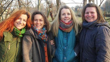 von links nach rechts: Nicole Gwizdek, Karina Spohr, Susanne Wagner und Anika Jäger