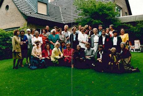 Ämterübergabe 10. 06. 1991 im Garten von Annemarie Krotz