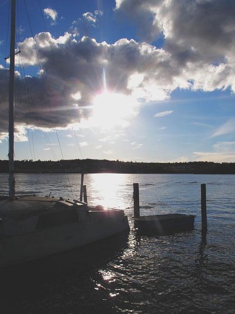 plage suède bigousteppes bateaux marina archipel bleu soleil ciel
