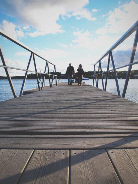 marina bigousteppes suède archipel bleu bois