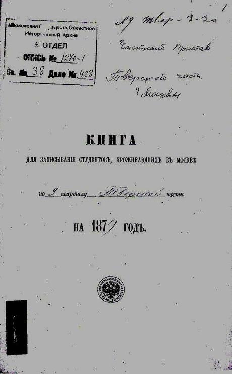 Обложки книг за 1879 и 1880гг.