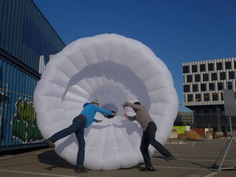 Inflatable Wind Tunnel, Kaspar König, artcontainer 2016