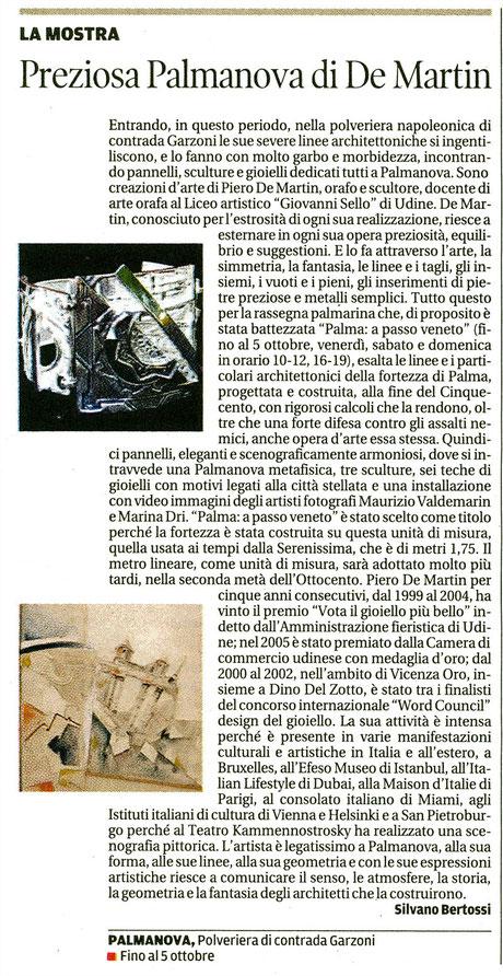 Messaggero Veneto del 16 settembre 2014