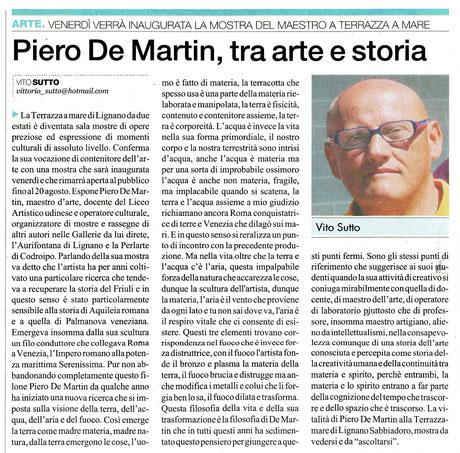 Il Quotidiano di Udine del 19 luglio 2012