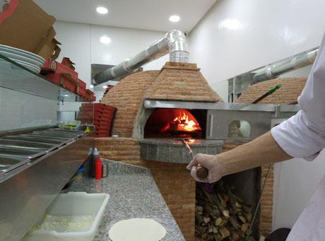 Four à pizza pro au bois