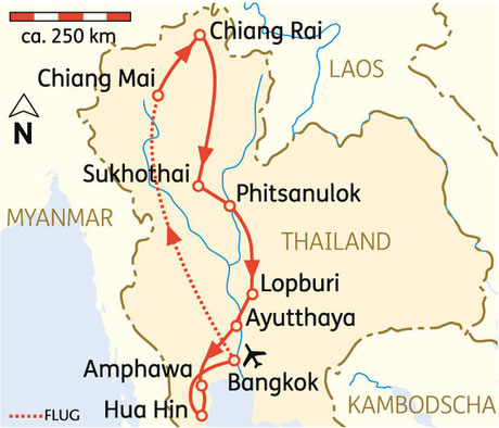 15 Tage Rundreise Thailands Höhepunkte inkl. Flug (Badeverlängerung zusätzl. a.A.)