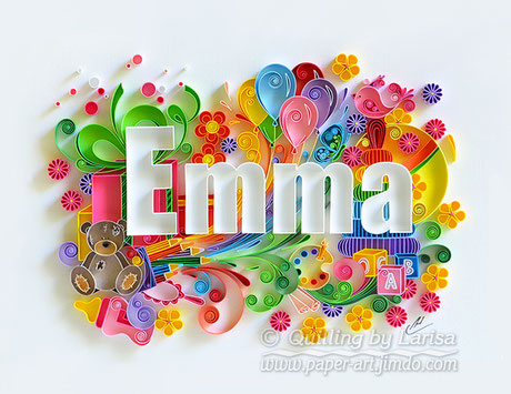 quilling , quilling paper, paper art, art, love, kid, baby, emma, child, children, design for baby, bear, bird, ball, flowers, design, love heart, hearts, quilling art, quilling paper art