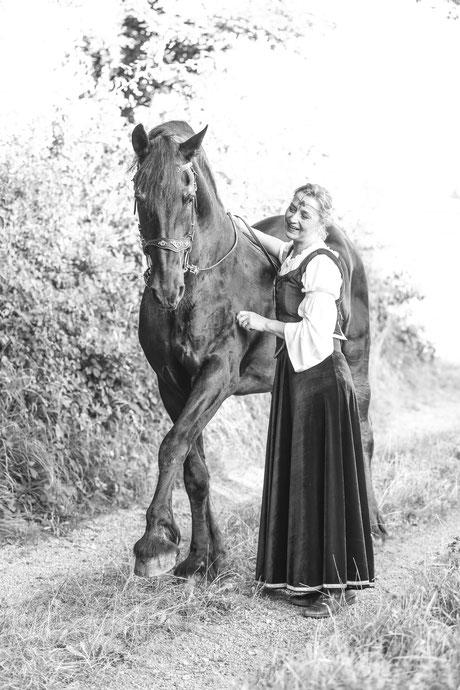 Kostüm-Pferdefotoshooting