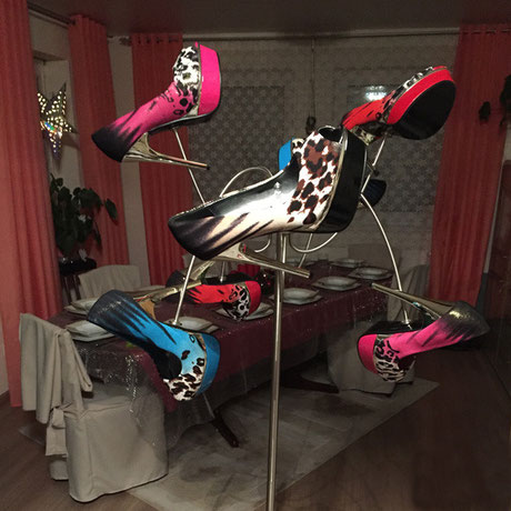 LED Schuhleuchte, LED Schuhlampe, Stehleuchte, Stehlampe, Light Heels
