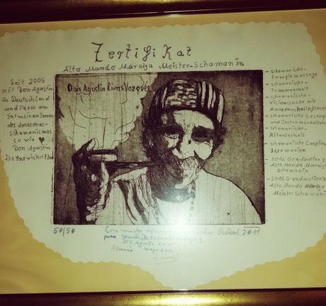 Zertifikat für Shanti Stefanie Kranz von Don Agustin Rivas  Vasquez
