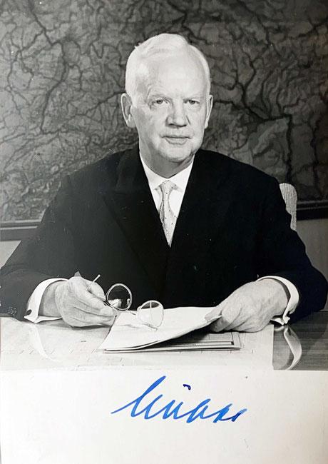 autograph Heinrich Lübke Autogramm