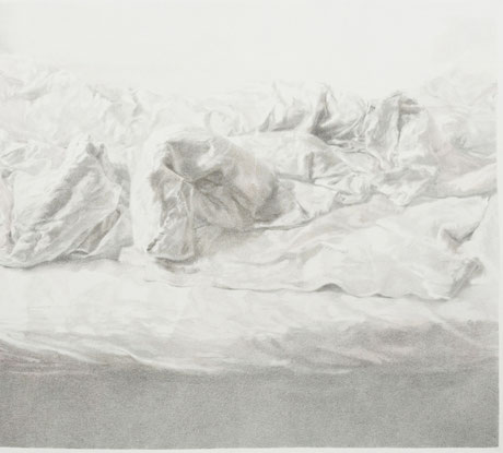 SEVDA CHKOUTOVA, o.T . 02, 2019, Graphitstift und Buntstift auf Papier, 125x112cm