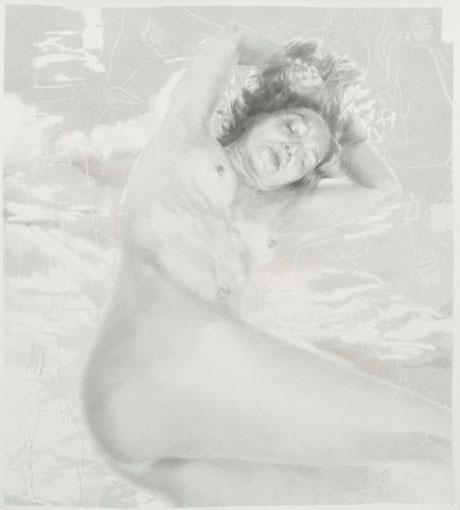 SEVDA CHKOUTOVA, o.T. 01, 2019, Buntstift auf Papier, 125x175cm