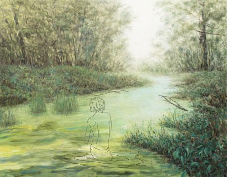 BERNARD AMMERER, Person 2, Oel auf Leinwand, 2019, 180 x 150cm