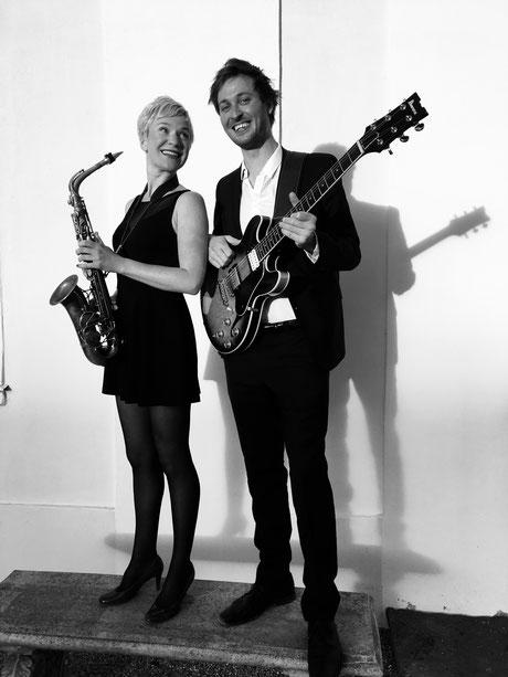 Saxophonistin Band für Event
