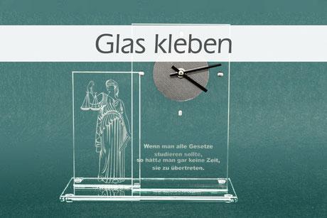 Glas kleben