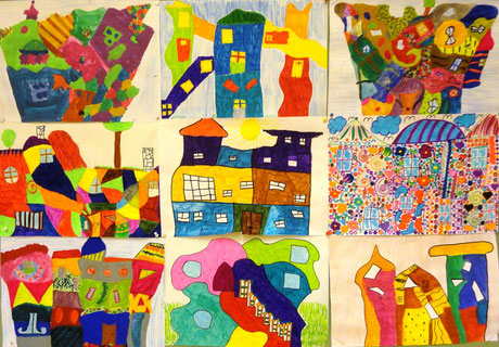 Häuser nach Hundertwasser (2.NMS)
