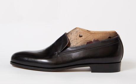 anja burisch Maßschuhmacherei, Slipper, foto lena jürgensen,handgefertigte Schuhe