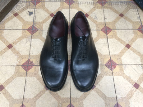 anja burisch Massschuhe Hamburg, whole cut, Cordovan, made to measure