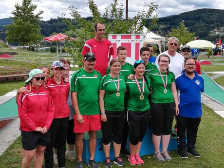 Die niederösterreichischen TeilnehmerInnen der ÖM/JÖM 2019 (Voitsberg)