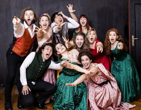 StudentInnen des Lehrgangs Klassische Operette an der MUK Wien,             Foto © W. Dosch