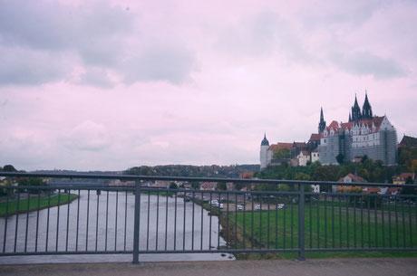 Blick auf das Schloss Meißen