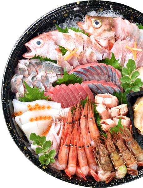 真洋水産は港まで15分なので新鮮な刺身を提供