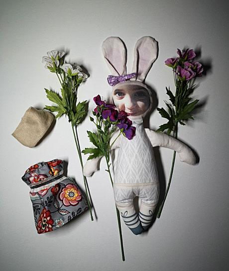 Puppe, Kinderpuppe, handmade Puppe, Stoffpuppe handgemacht, Stoffpuppe, handgemacht individualisierbare Puppe, Weihnachtsgeschenk, Ostergeschenk, Osterhase, Fotogeschenk, Fotopuppe, doll,