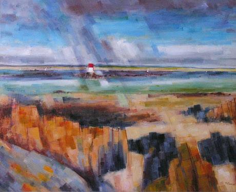 BRETAGNE 4 (huile sur toile) 81 x 100 cm JF.Millan (collection privée)