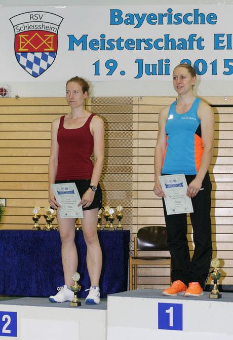Bianca Zint und Milena Slupina bei der Siegerehrung