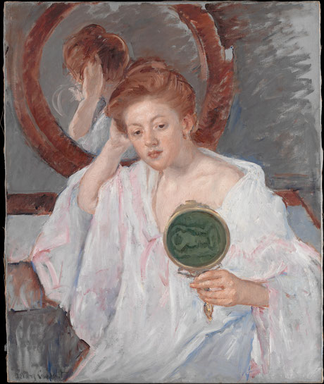 Denise à sa coiffeuse (1908-1909)  © Mary Cassatt,  Metropolitan Museum, New York