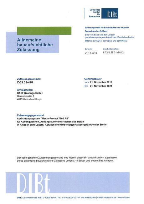 MasterProtect - Allgemeine bauaufsichtliche Zulassung