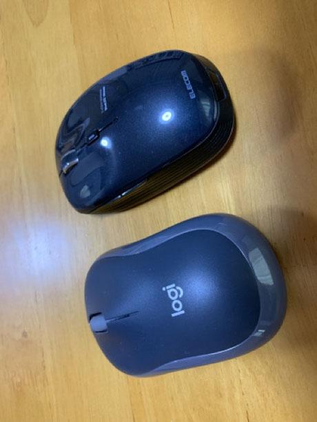 右が旧マウス、左が新マウス