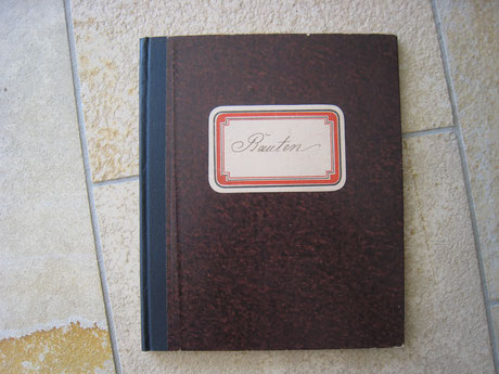 Ausgabenbuch für den Bau des Hauses