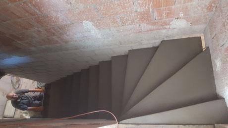 Tritteinteilung einer Treppe