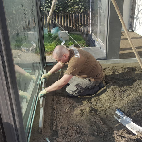 Unterlagsboden einbau