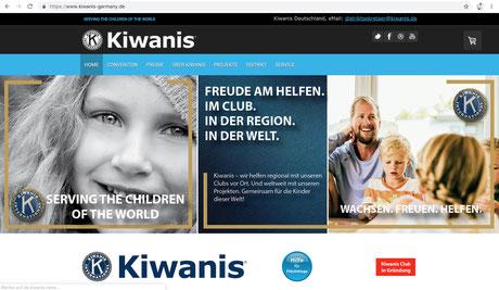 ES-DESIGN Webseite / Kiwanis-Deutschland