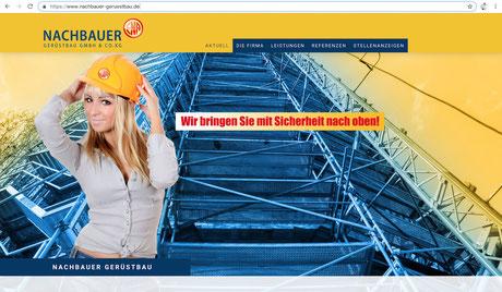 ES-DESIGN Webseite / Nachbauer Gerüstbau