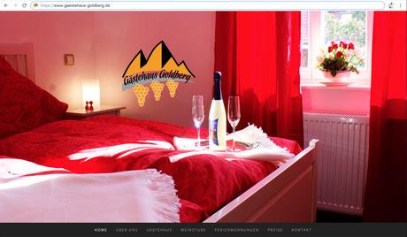 ES-DESIGN Webseite / Gästehaus Goldberg
