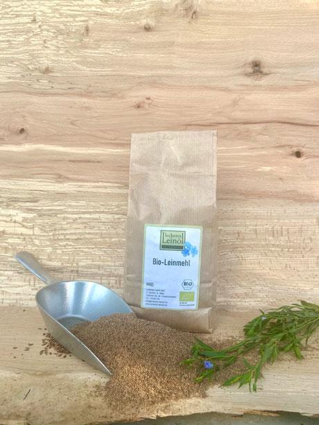 Leinmehl bio, biologisch, heimisches Leinmehl, frisches Leinmehl