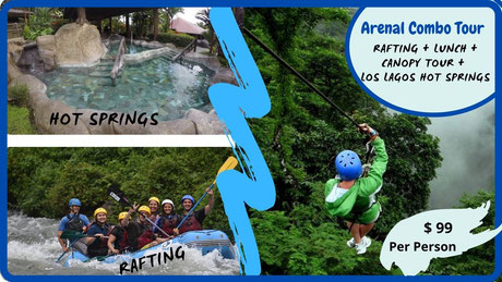 Arenal Combo Tour for one day in La Fortuna