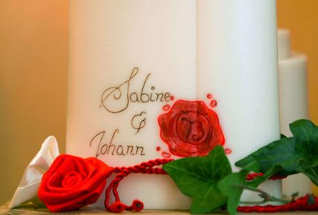 Hochzeitskerzen Sonderanfertigung