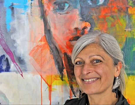 Portrait der Künstlerin Barbara Wolf