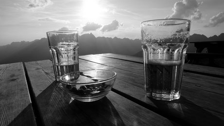 Le bonheur de partager une biére en ces hauts lieux !