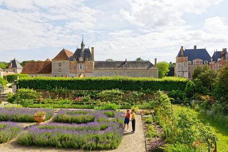 Jardin potager du château de la Bussière dans le Loiret