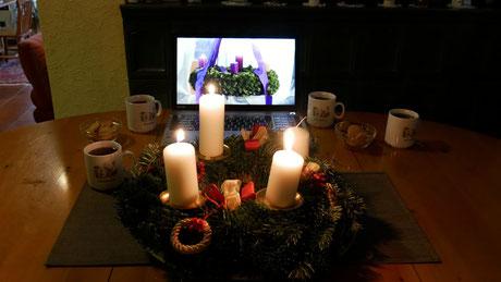 Das Youtube Video der Adventfeier ist am 12.Dezember ab 17:00 abrufbar.
