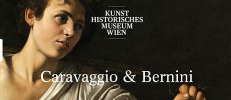 Die Ausstellung präsentiert Kunstwerke des Malers Carravaggio und des Bildhauers & Architekten Bernini.