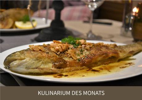 Fischgerichte in Juckers Boutique-Hotel und Restaurant Linde in Tägewilen am Bodensee bei Kreuzlingen