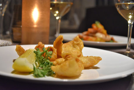 Fischspezialitäten in JUCKERs Boutique-Hotel - Restaurant Linde in Tägerwilen bei Kreuzlingen am Bodensee